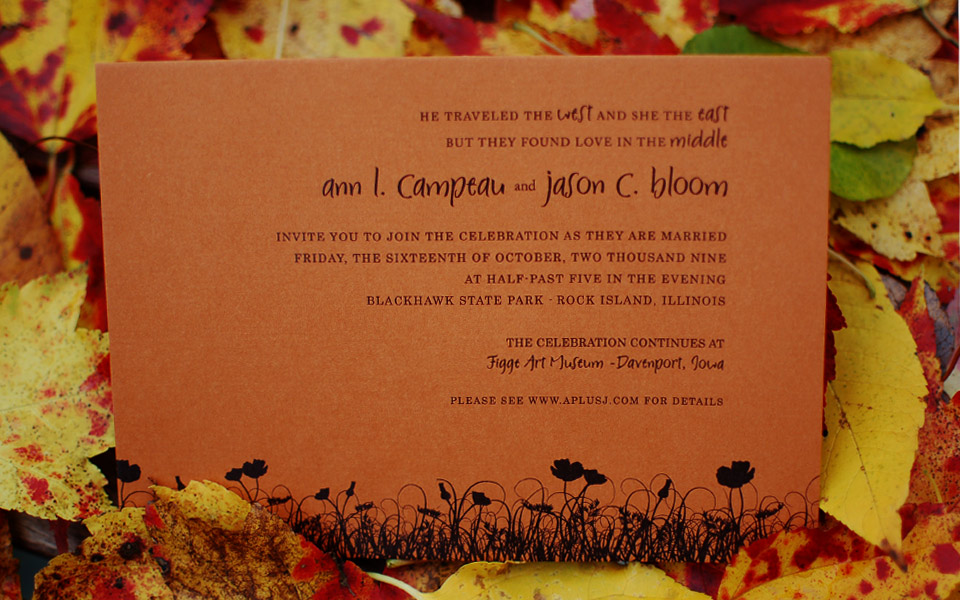 AplusJ wedding invitation