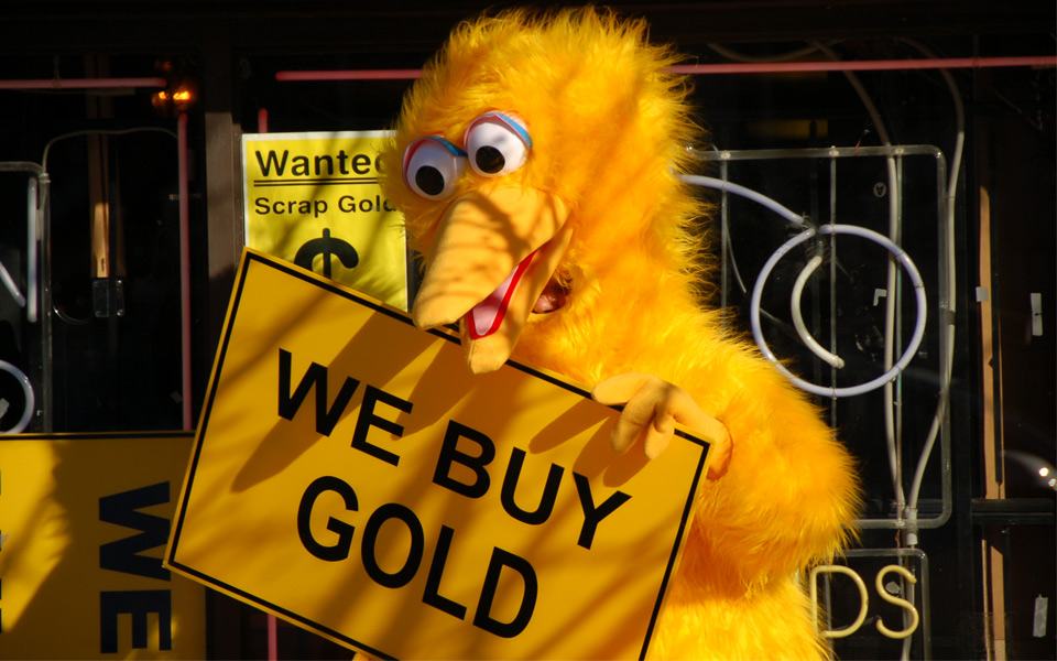 big bird wants your gold
