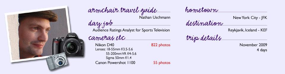 Armchair Travel Guide: Nathan Uschmann