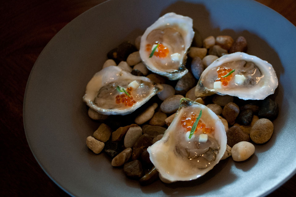 Oysters on the half shell at Community table